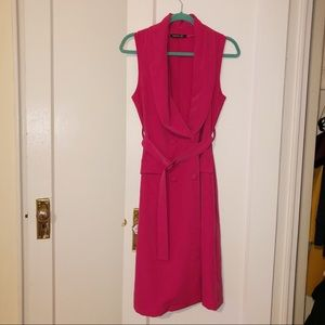 Fuschia Blazer Dress